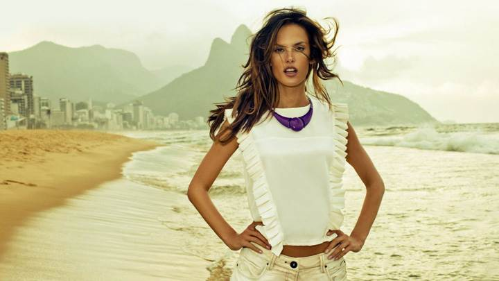 Alessandra Ambrosio In White Dress Photoshoot